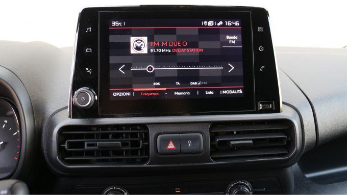 Citroen Berlingo Van: lo schermo dell'infotainment