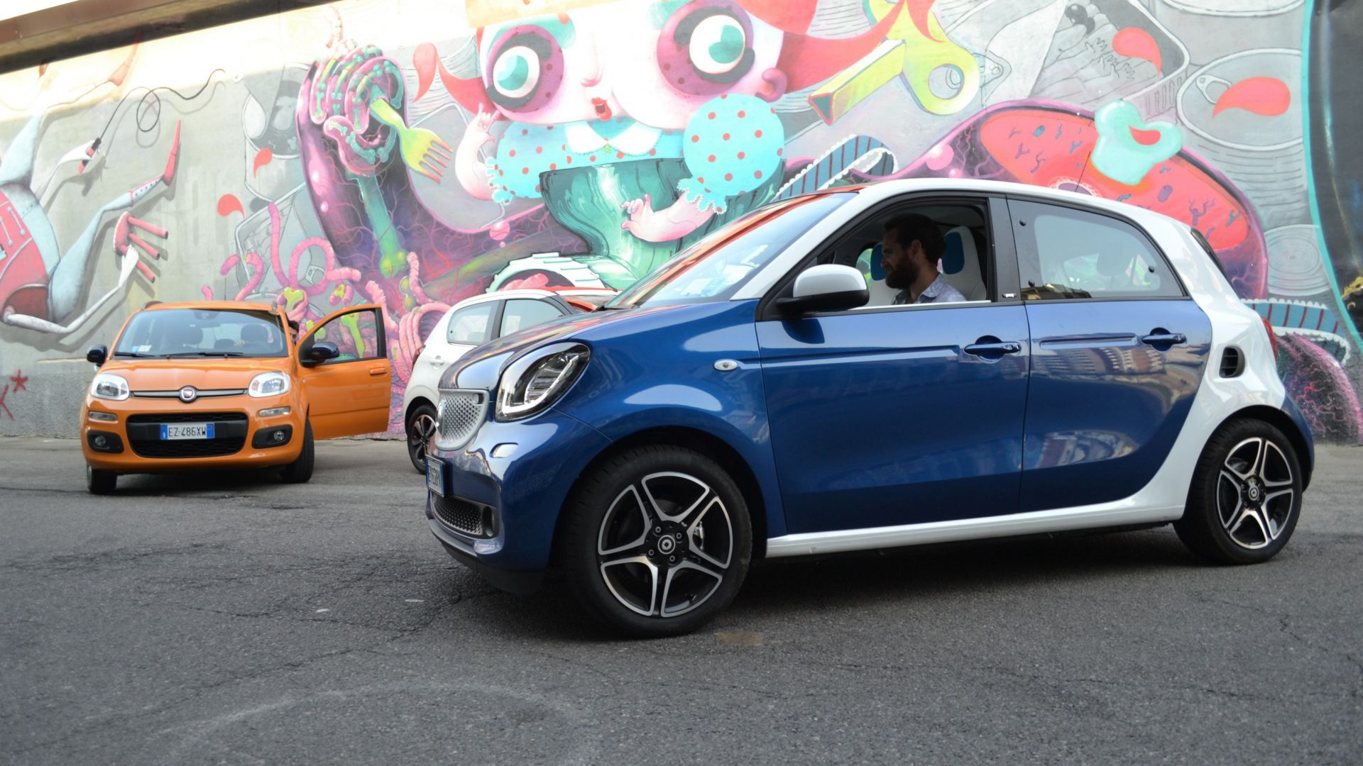 video confronto  citro u00ebn c1 vs fiat panda vs smart forfour
