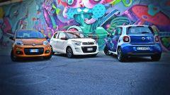 Citroën C1 vs Fiat Panda vs Smart forfour - Immagine: 1