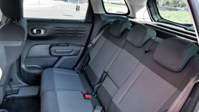 Citroen C3 Aircross: il divanetto posteriore
