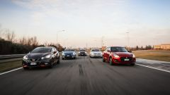 Citroen C3, Ford Fiesta, Nissa Micra, Suzuki Swift, Volkswagen Polo: il video in pista