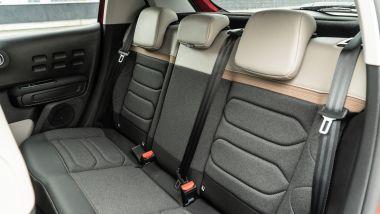Citroen C3 PureTech 110 S&S 2021, interni: abitacolo posteriore