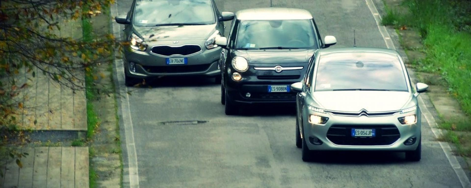 Citroën C4 Picasso vs  Fiat 500L Living vs Kia Carens