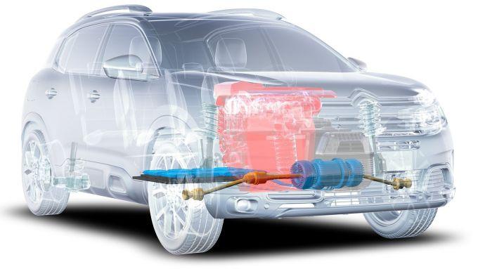 Citroen C5 Aircross: un trasparente mostra motori e batterie del SUV
