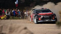 WRC 2017, Rally Sardegna, Giorno 2: Tanak e Ford Fiesta WRC Plus 2017, i leader. Mikkelsen e Citroen C3 WRC 2017, 8°