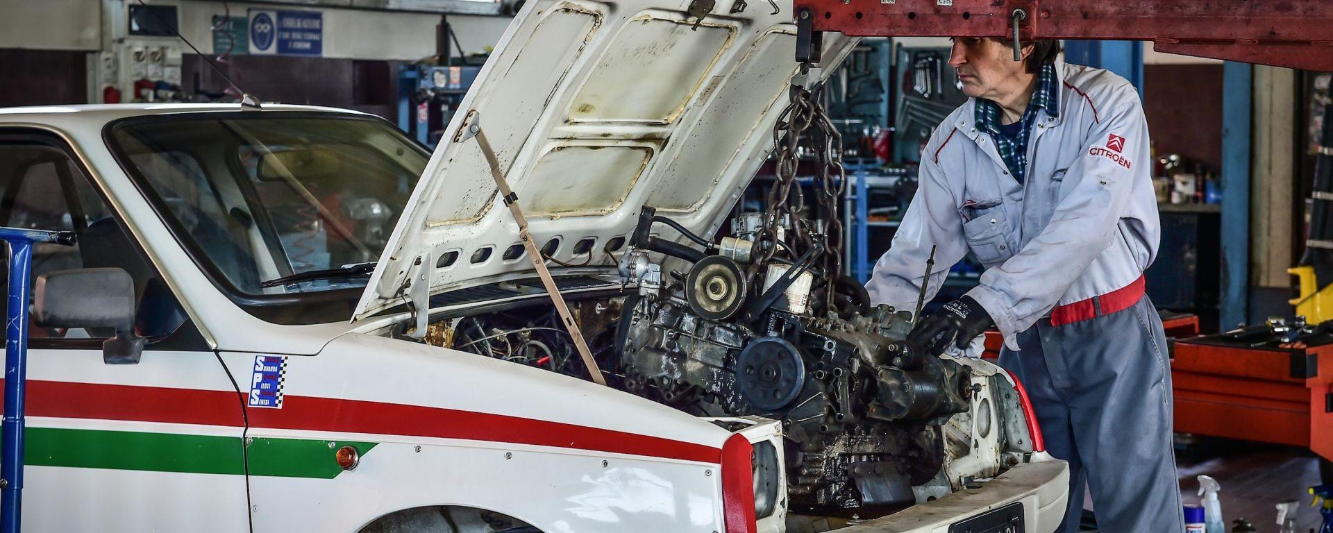 Citroen Visa Chrono: il motore è stato completamente smontato