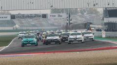 Clio Cup Italia, la partenza della gara di Misano nel 2018