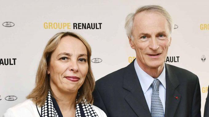 Clotilde Delbos (CEO Renault) e Jean Dominique Senard (presidente Renault)