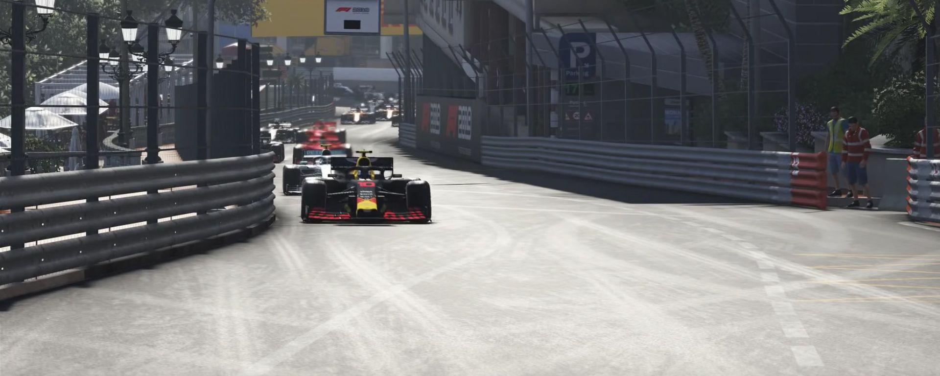 Codemasters F1 2019, la partenza virtuale del Gp di Monaco