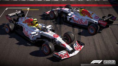 Codemasters F1 2021, la livrea speciale della Red Bull di Verstappen e Perez
