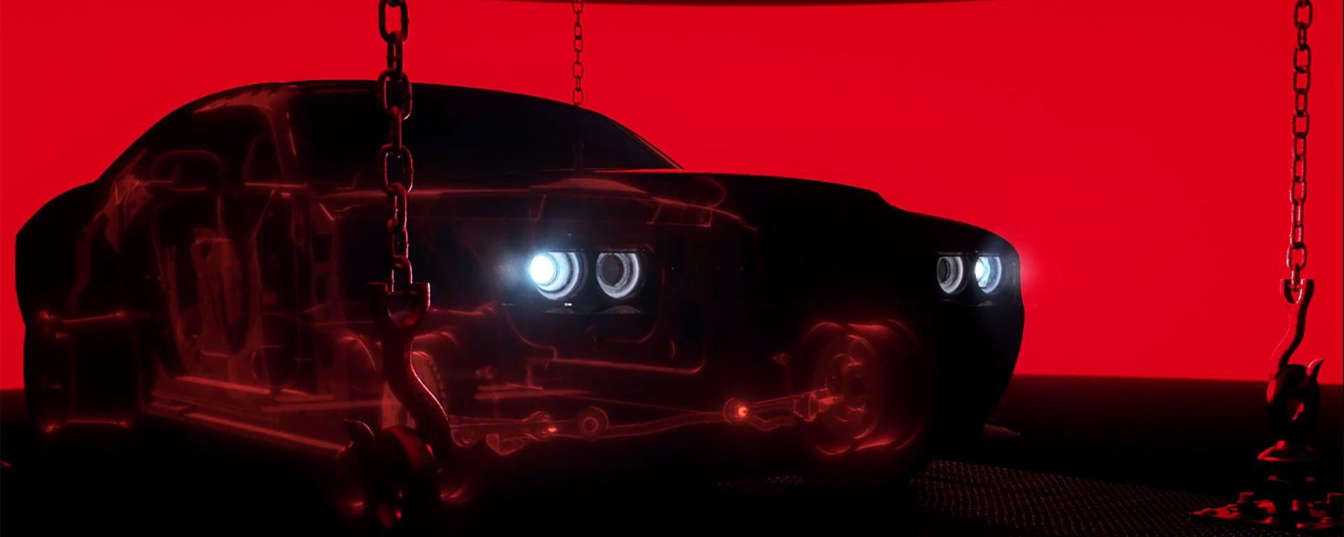 Col nuovo teaser si possono intuire le forme della Dodge Challenger SRT Demon
