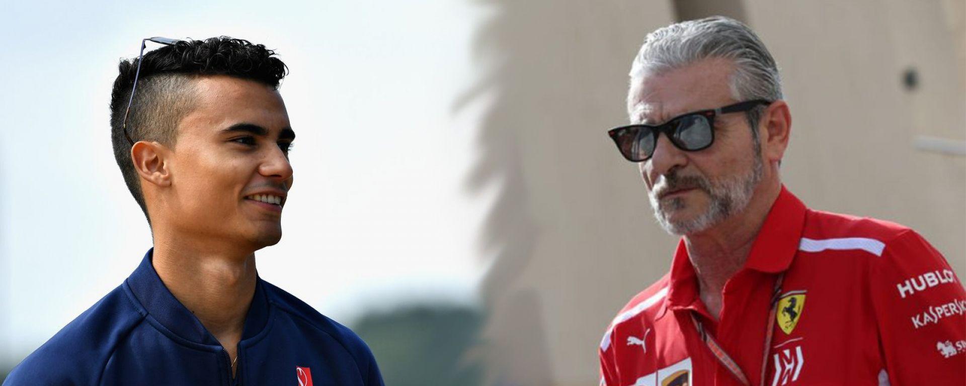 Collage con Pascal Wehrlein in Sauber e Arrivabene in Ferrari. I due potrebbero scambiarsi le polo nel 2019