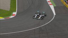 Collisione tra Rosberg e Hamilton in occasione del GP d'Austria