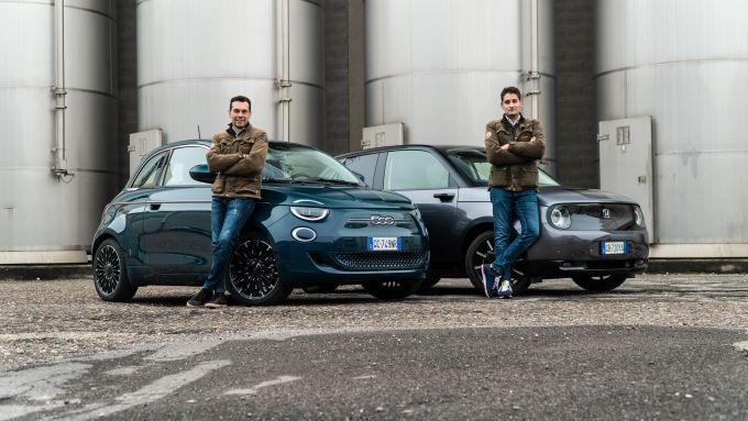 Come se la cavano Honda-e e Fiat 500 Elettrica su strada?