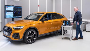 Comfort acustico Audi: una fase dei test su una RS Q3 Sportback