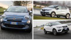 Comparativa: Fiat 500X, Renault Captur e Seat Arona a confronto