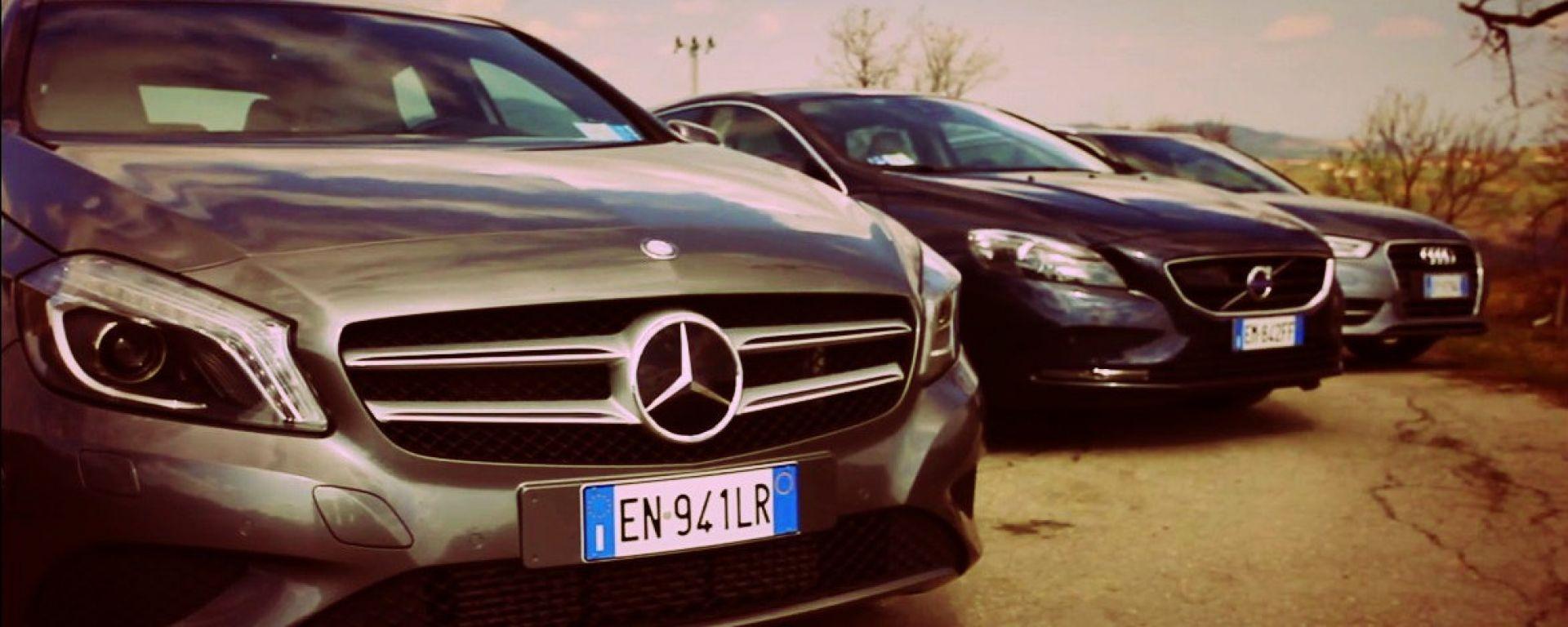 Audi A3, Mercedes Classe A, Volvo V40