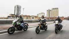 Comparativa moto rétro: Kawasaki Z900 RS Cafe, Ducati Scrambler 1100, Guzzi V7 III Racer