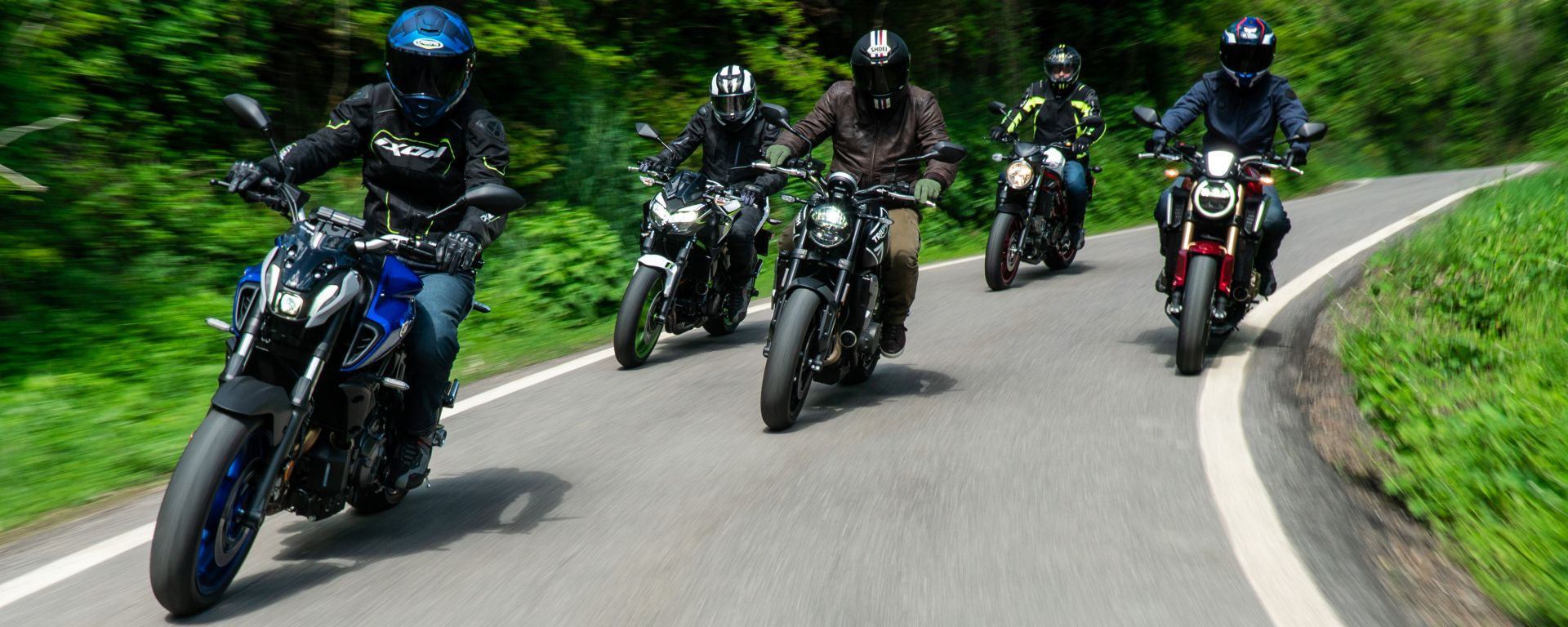 Comparativa naked entry level 2021: Honda CB650R, Kawasaki Z650, Suzuki SV650, Triumph Trident 660, Yamaha MT-07