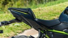 Comparativa naked medie: Kawasaki Z650, dettaglio della sella