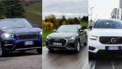 Comparativa Suv compatti premium: BMW X1 vs Audi Q3 vs Volvo XC40