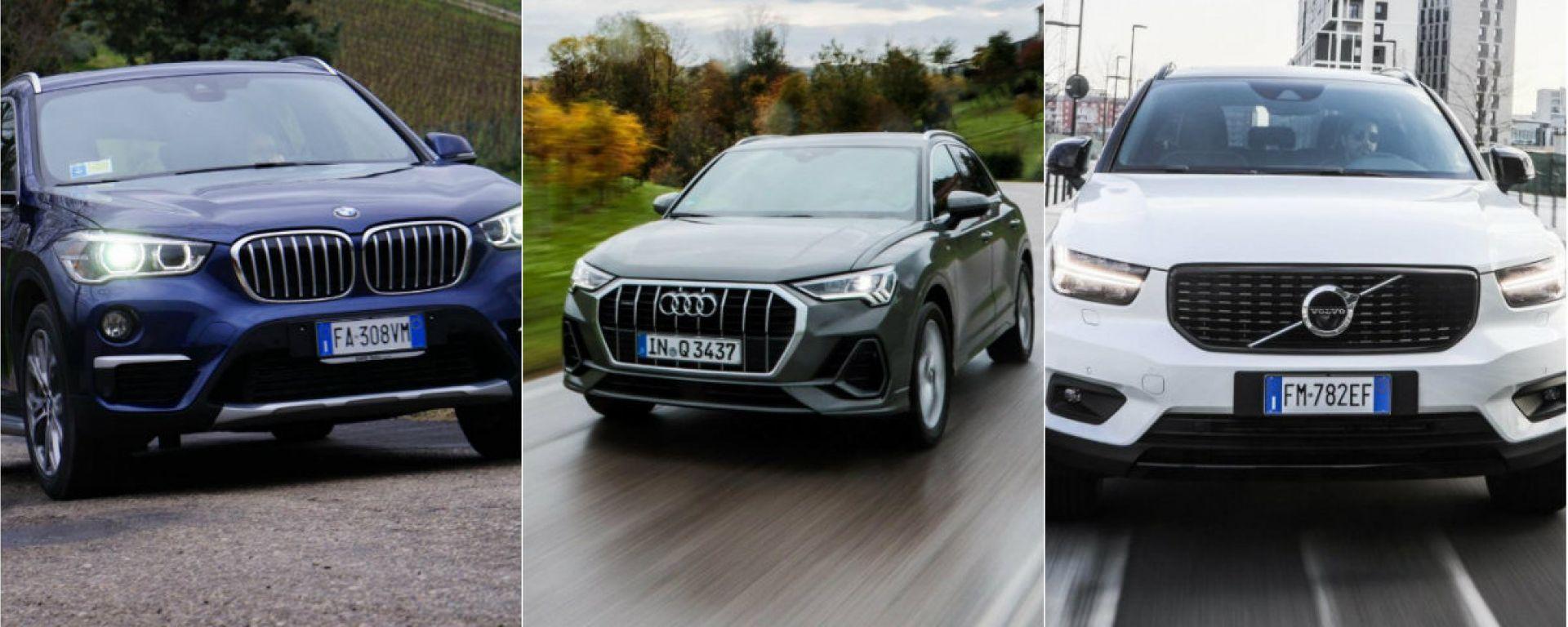 BMW X1 vs Audi Q3 vs Volvo XC40, il verdetto degli esperti UK
