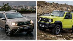Comparativa SUV Suzuki Jimny vs Dacia Duster a confronto