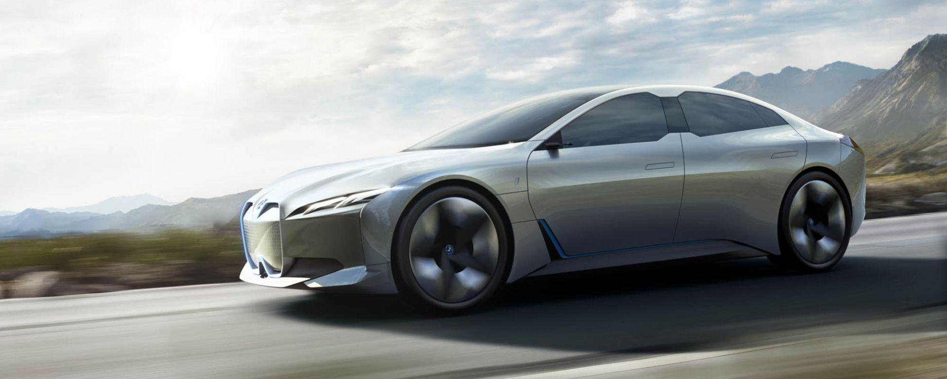 Concept della BMW i4: visuale di 3/4 anteriore