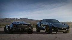 Concept non ufficiale Ferrari Simoom accanto a una couté: rendering by Dejan Hristov
