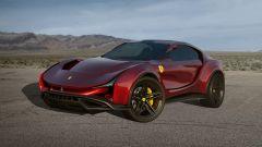 Concept non ufficiale Ferrari Simoom by Dejan Hristov: 3/4 frontale