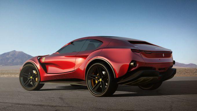 Concept non ufficiale Ferrari Simoom by Dejan Hristov: 3/4 posteriore