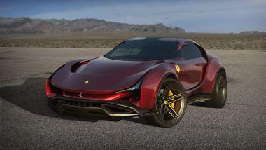 Concept non ufficiale Ferrari Simoom by Dejan Hristov: il frontale è molto affilato
