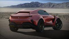 Concept non ufficiale Ferrari Simoom by Dejan Hristov: si noti la mancanza del lunotto