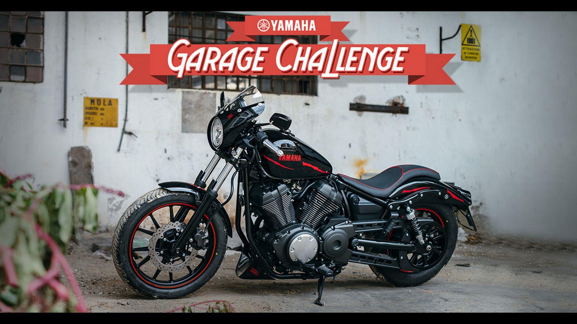 contest concorso yamaha xv950 garage challenge motorbox