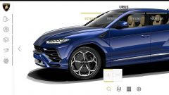 Configuratore Lamborghini Urus: il menu per personalizzare gli esterni