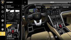 Configuratore Lamborghini Urus: il menu per personalizzare gli interni