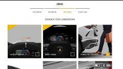 Configuratore Lamborghini Urus: il menu per personalizzare le dotazioni hi-tech