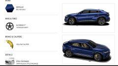 Configuratore Lamborghini Urus: la pagina di riepilogo