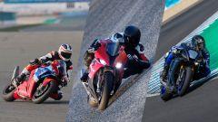 Test: Honda Fireblade SP vs Yamaha R1 M vs BMW S 1000 RR - Immagine: 1