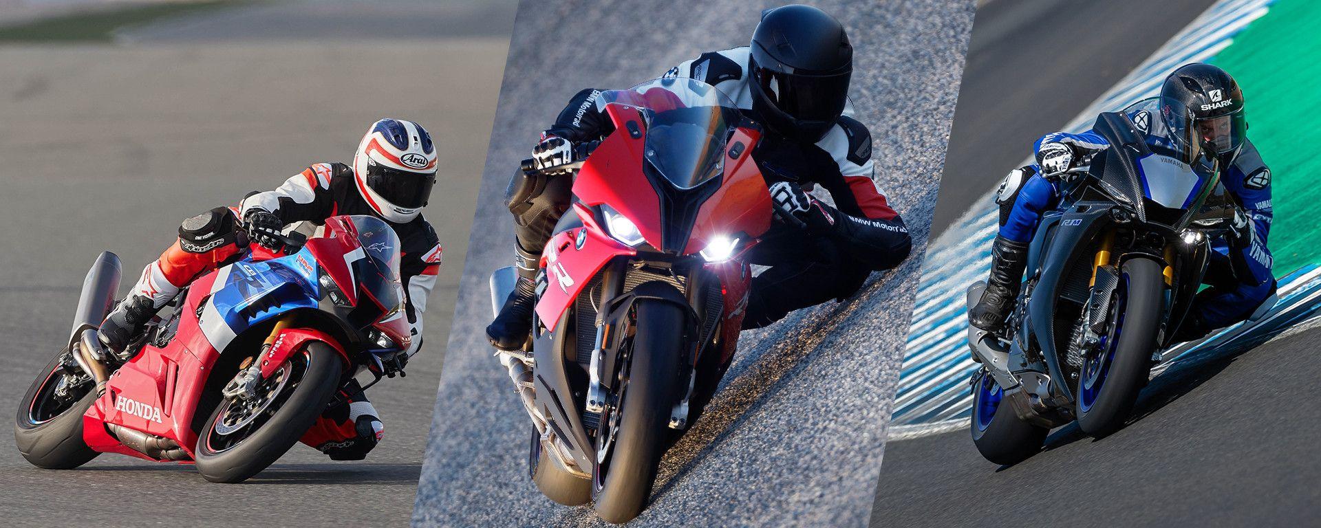 Test: Honda Fireblade SP vs Yamaha R1 M vs BMW S 1000 RR