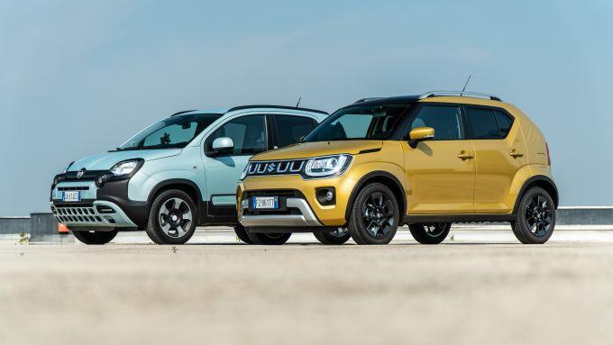 Confronto mobilità elettrica: Fiat Panda e Suzuki Ignis, due piccole mild-hybrid