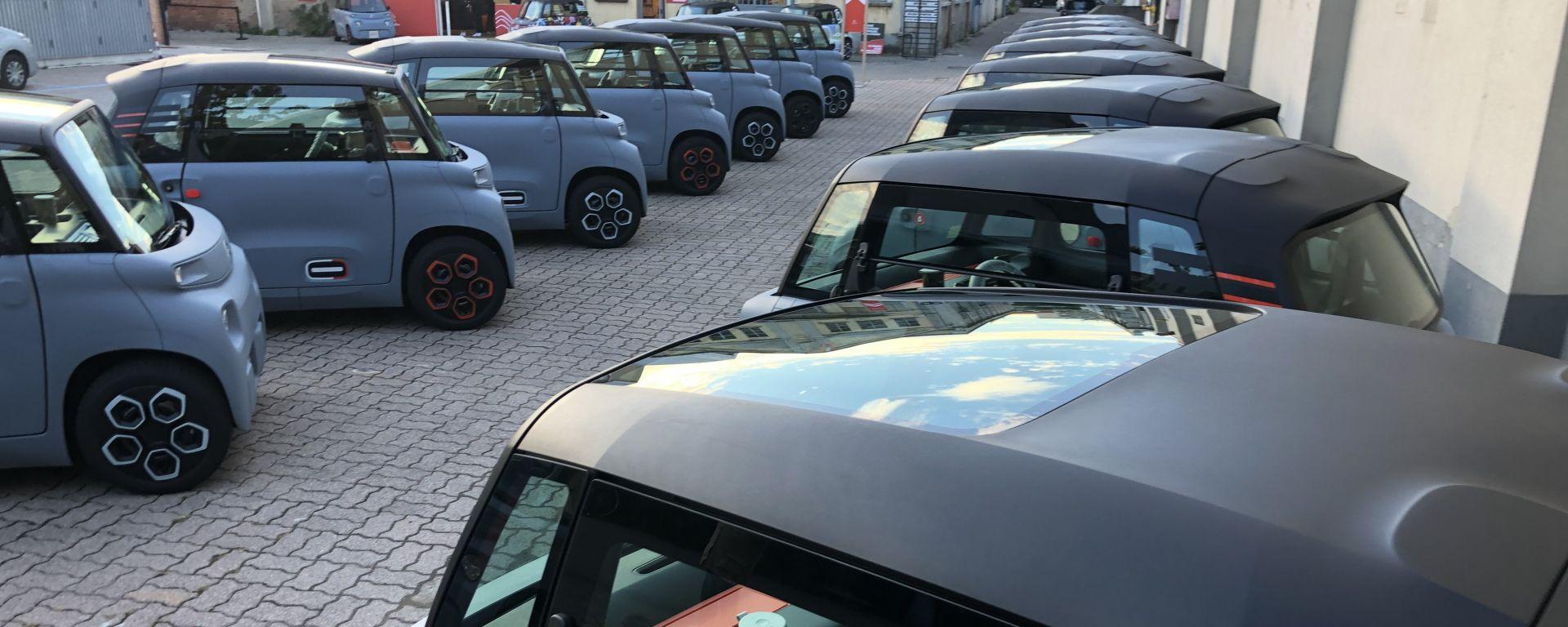 Confronto mobilità elettrica: la presentazione della Citroen AMI 100% electric a Milano