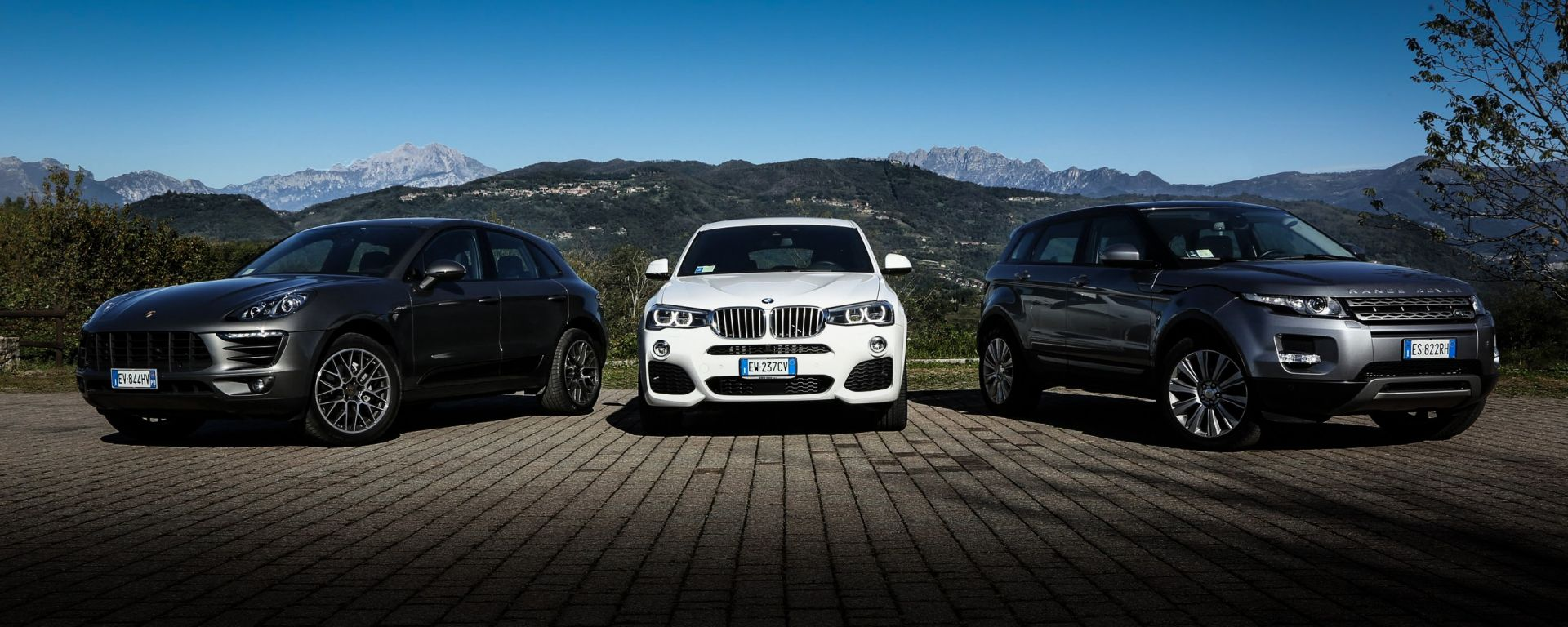 Porsche Macan vs BMW X4 vs Range Rover Evoque