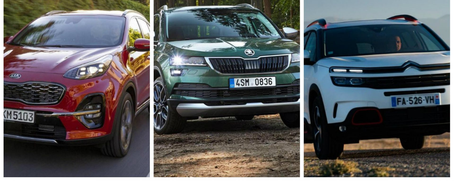 Kia Sportage, Skoda Karoq, Citroen C5 Aircross: quale scegliere?