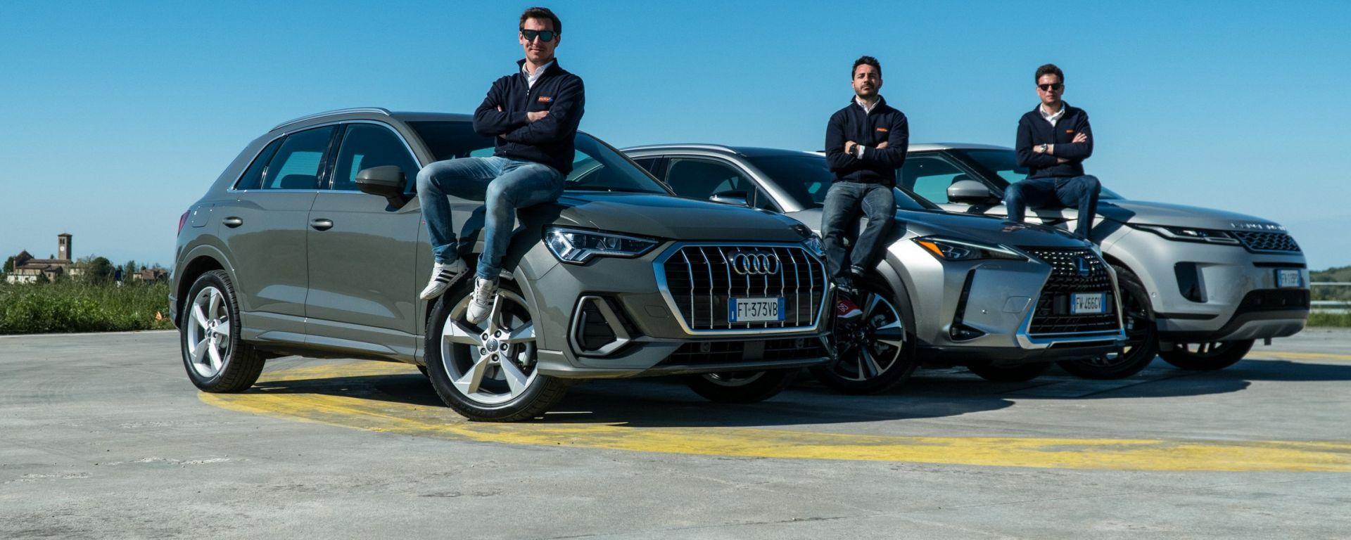 Confronto SUV Lexus UX, Range Rover Evoque e Audi Q3