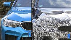 Confronto tra le luci anteriori della BMW Serie 5 attuale e del modello 2020
