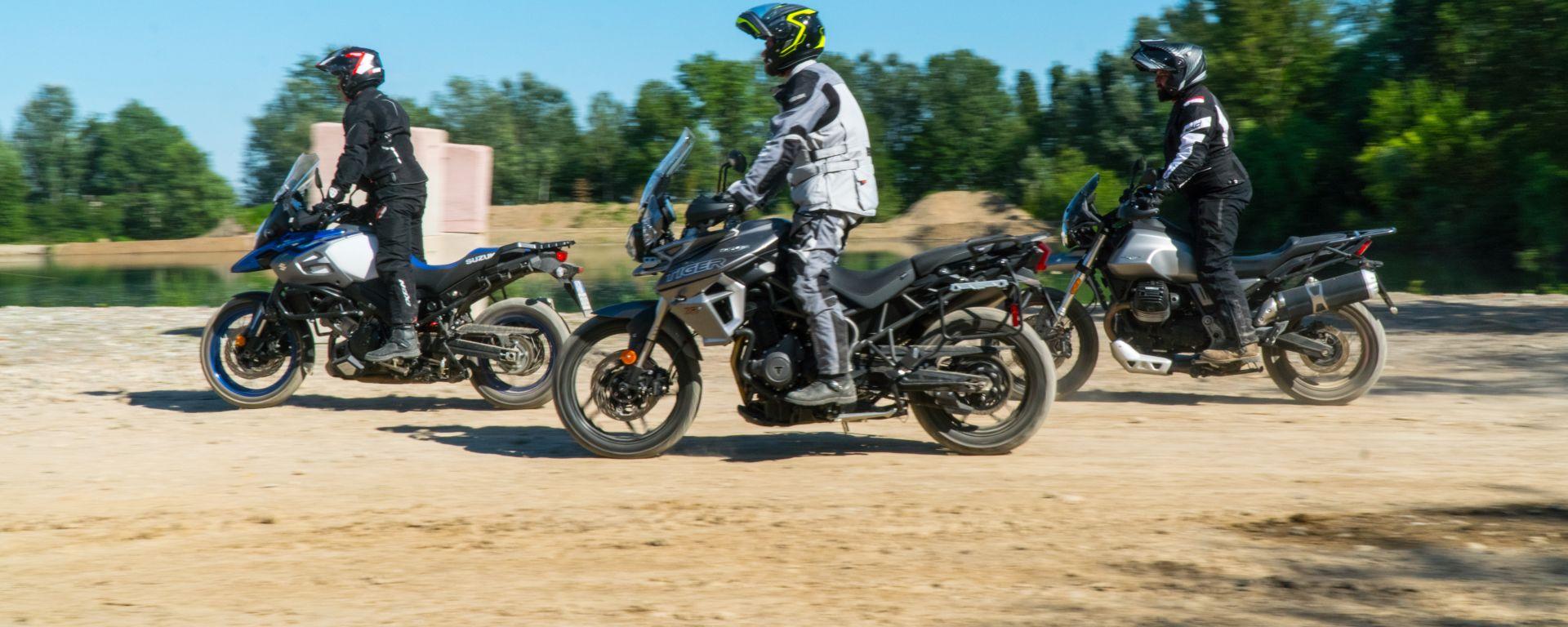Confronto tra Moto Guzzi V85 TT, Triumph Tiger 800 XRT e Suzuki V-Strom 1000 XT