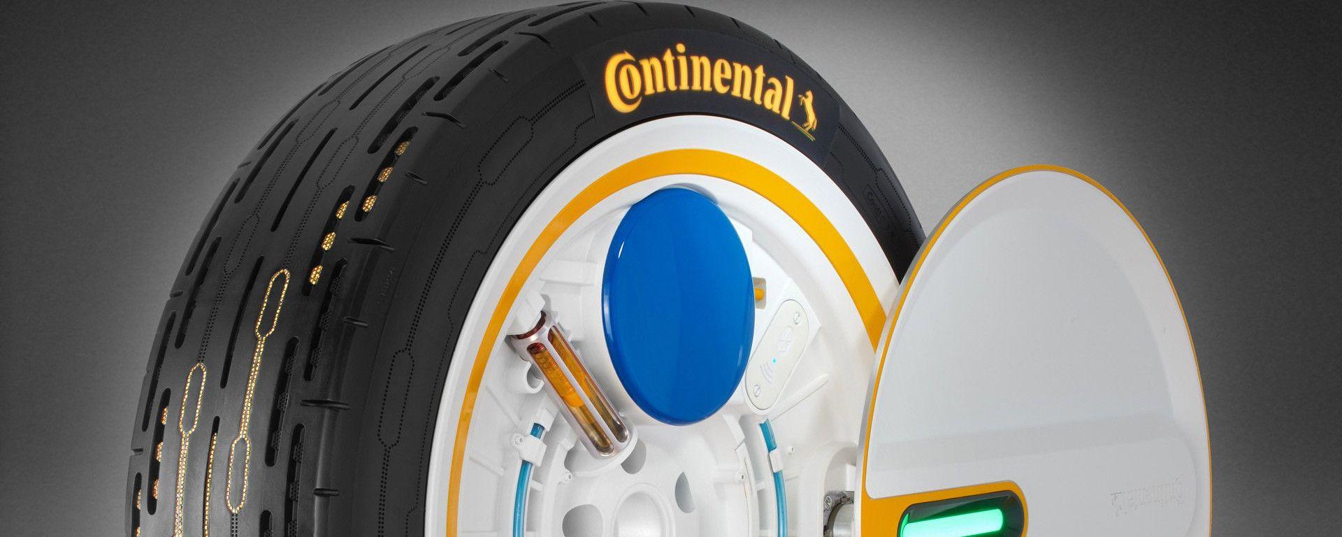 Continental: il prototipo di gomma che si gonfia da sola