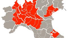 Coronavirus, la mappa delle zone rosse