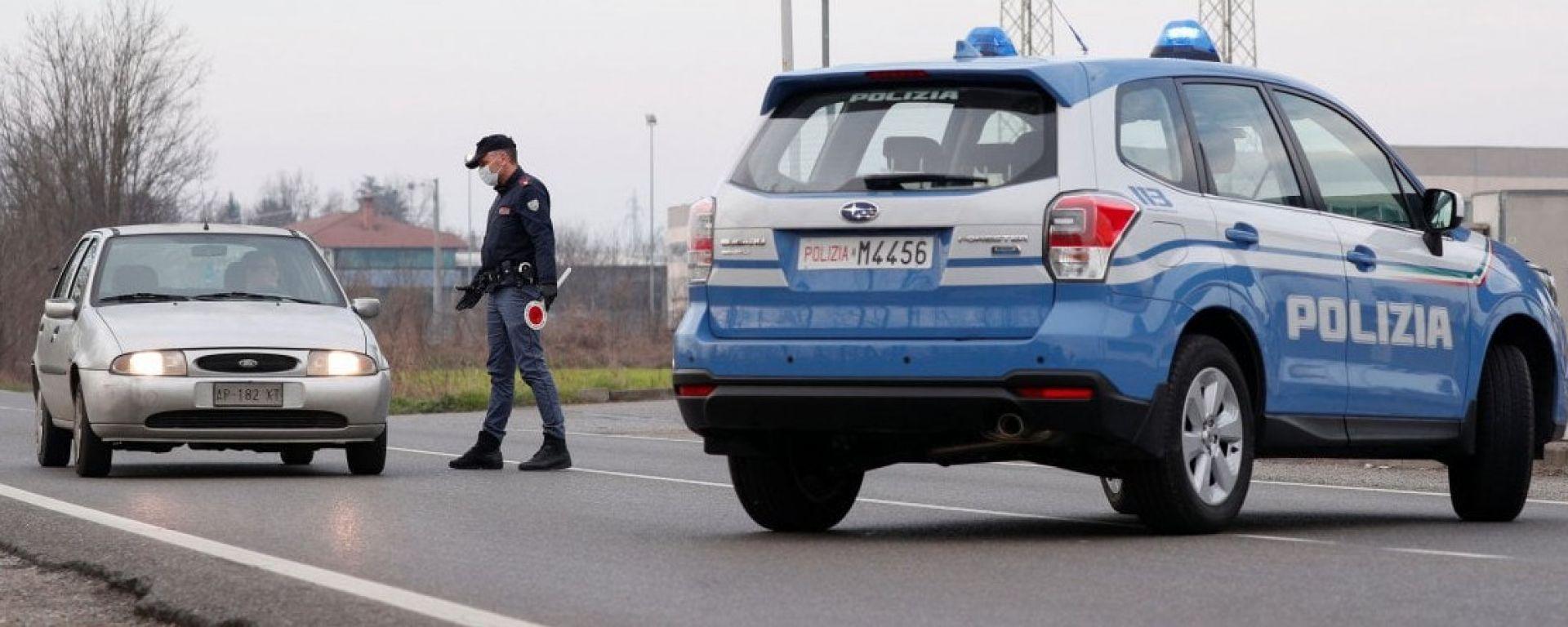 Coronavirus, sulle strade attivi i controlli della Polizia